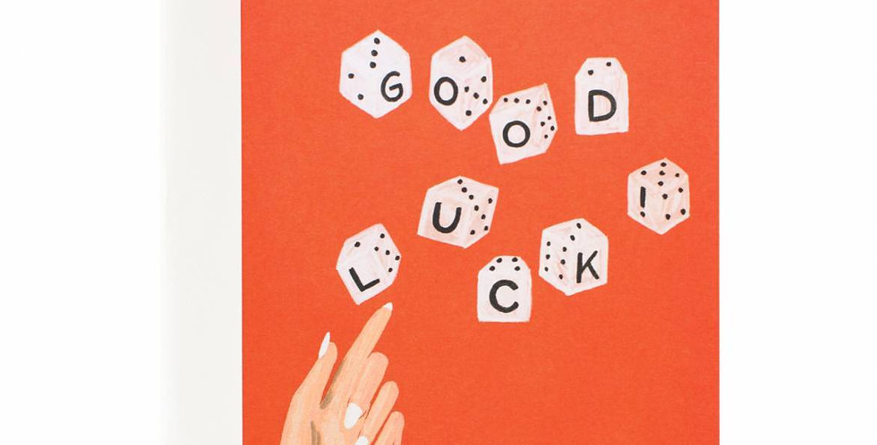 Rifle Paper Co. Good Luck Dice Card