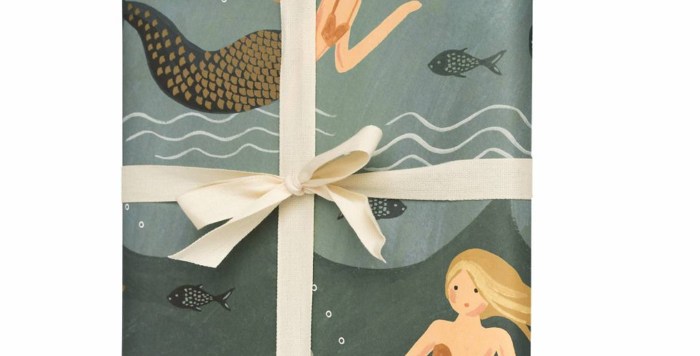 Rifle Paper Co. Mermaid Gift Wrap (by the sheet)