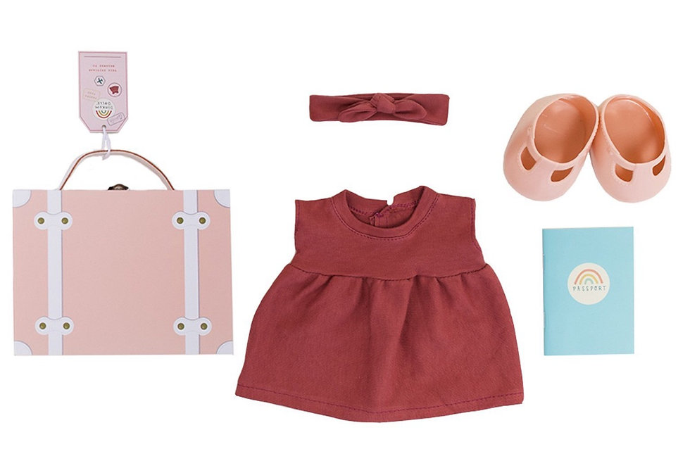 Olli Ella Travel Togs Outfit - Pink
