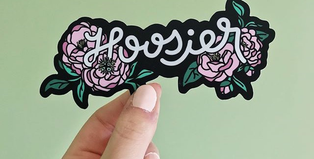 Michelle Marqueling Hoosier Floral sticker