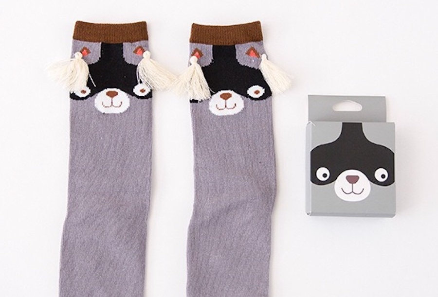 Mama Siesta Knee High Sock - Raccoon