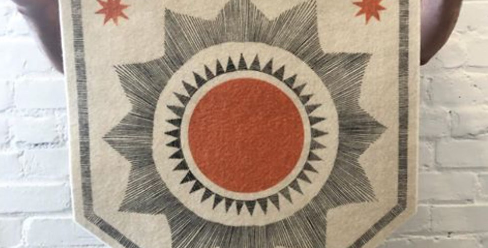 The Rise and Fall Banner - Large Sun