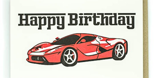 Pike Street Press Sports Car birthday card