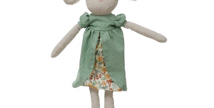 "Creative Co-Op 14"" Lamb Doll"