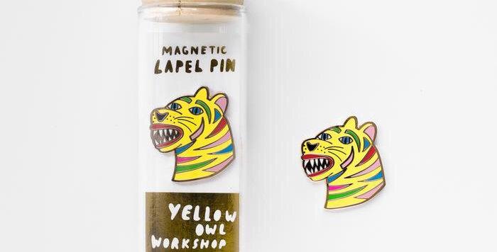 Yellow Owl lapel pin