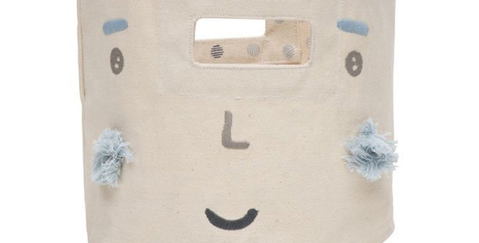 Pehr Peek-A-Boo mini storage bin - Blue