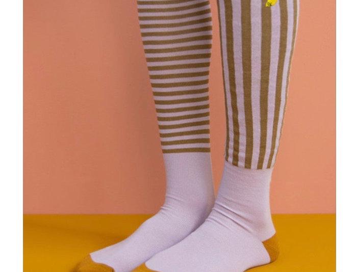 Sticky Lemon kids knee sock - Lavender