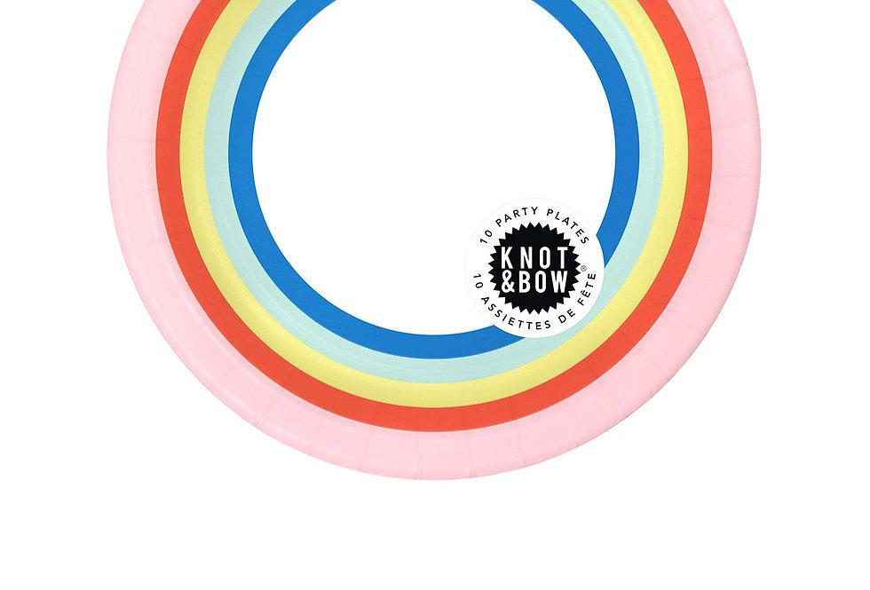 Knot & Bow Small Rainbow Plates