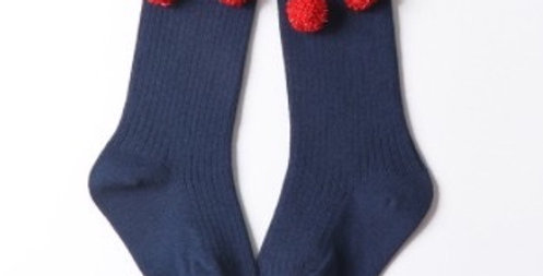 Mama Siesta Pom Bow kids socks