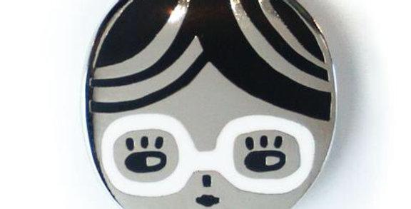Badge Bomb Glasses Chick enamel pin