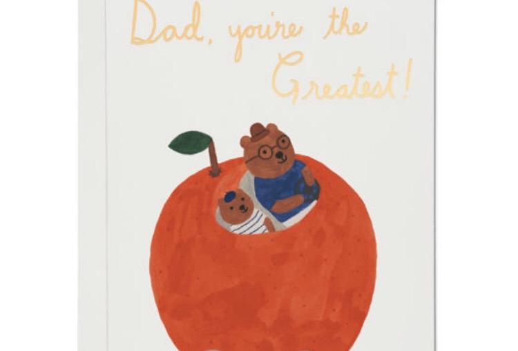 Red Cap Orange Car Dad card