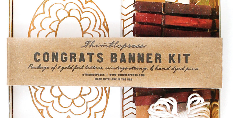Thimblepress Congrats Banner Kit
