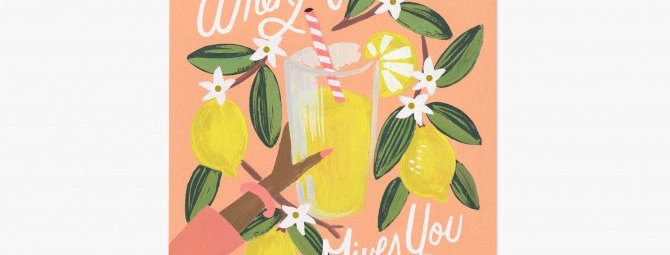Rifle Paper Co Lemons to Lemonade print 8x10