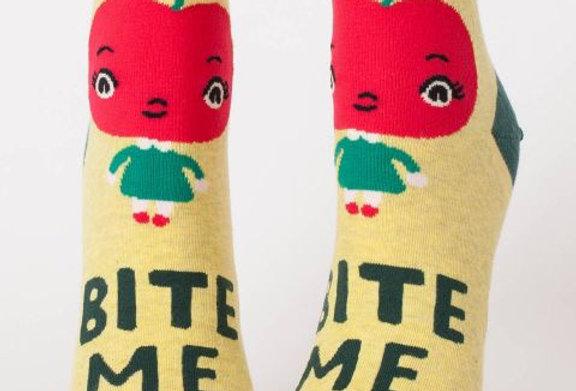 Blue Q Bite Me womens ankle sock
