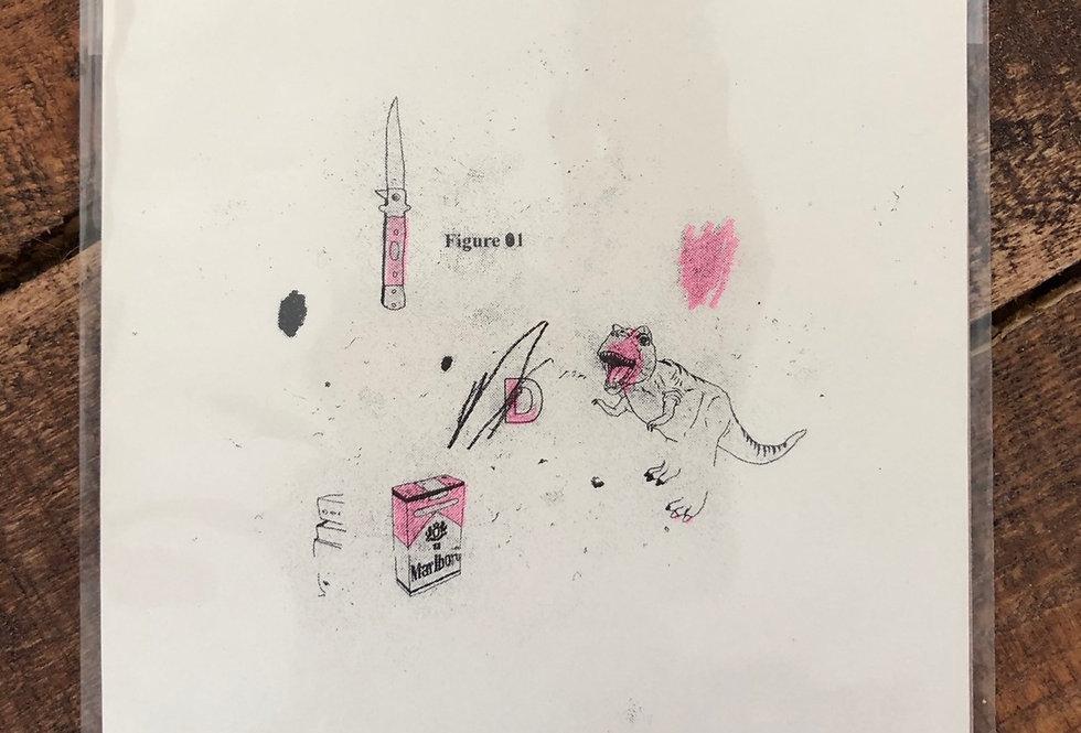 Corey Purvis Risograph 6x7 print