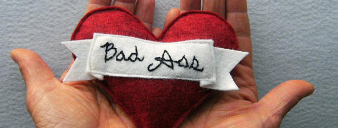 "Miso Handmade ""Bad Ass"" Tattoo Catnip Toy"