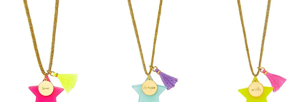 Bottleblond Large Star necklace