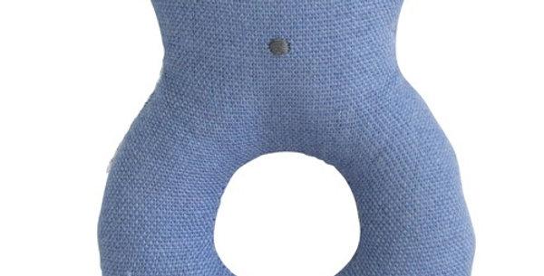 Alimrose linen bear ring rattle