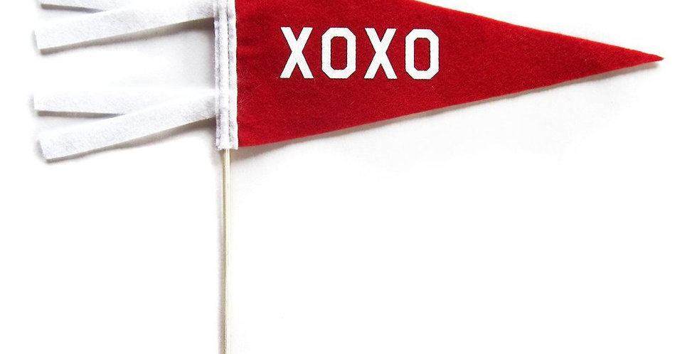 "Three Potato Four ""XOXO"" Mini Pennant"
