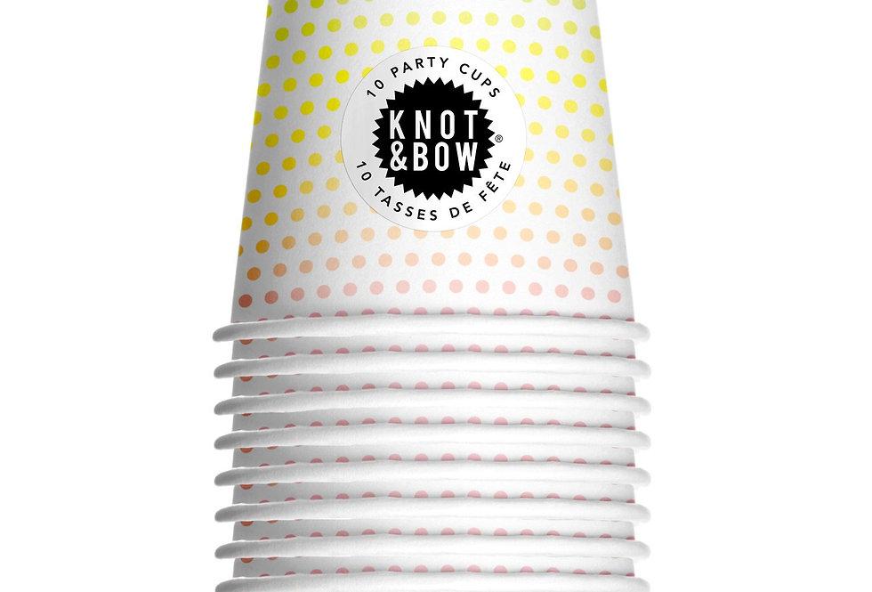Knot & Bow Rainbow Dot Cups