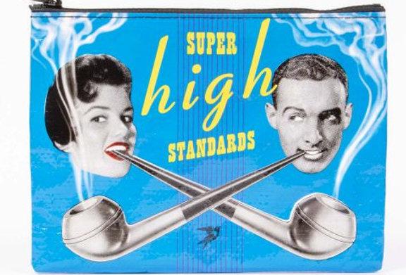 Blue Q Super High Zipper pouch