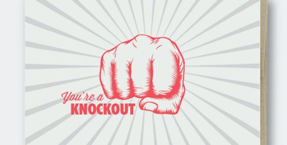 Pike Street Press Knockout card