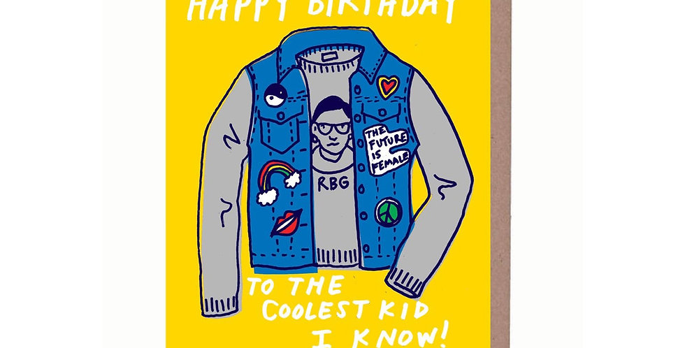 La Familia Green Coolest Kid Birthday card