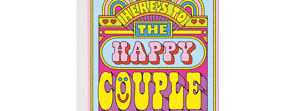 Red Cap Happy Couple card