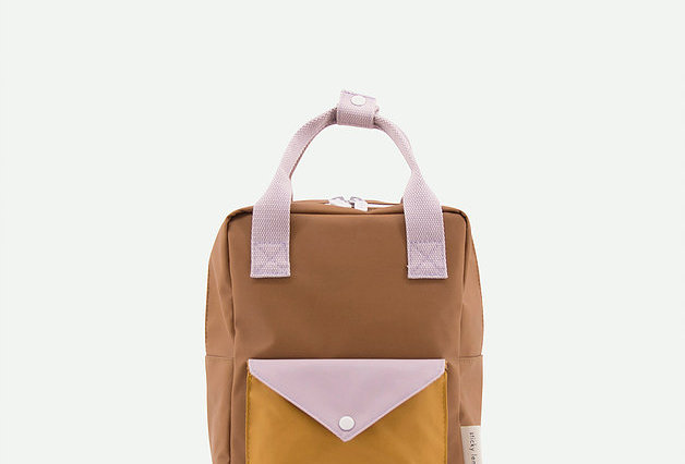 Sticky Lemons small backpack in Sugar Brown