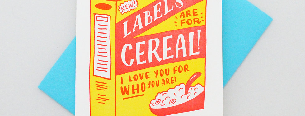 Ladyfingers Labels Are For Cereal Card
