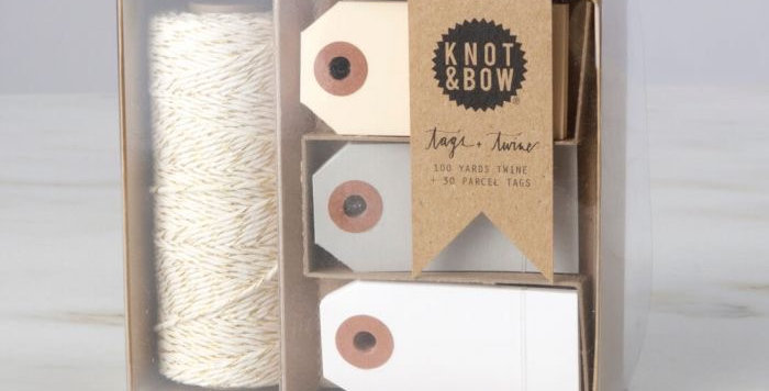 Knot & Bow Twine and Tag set