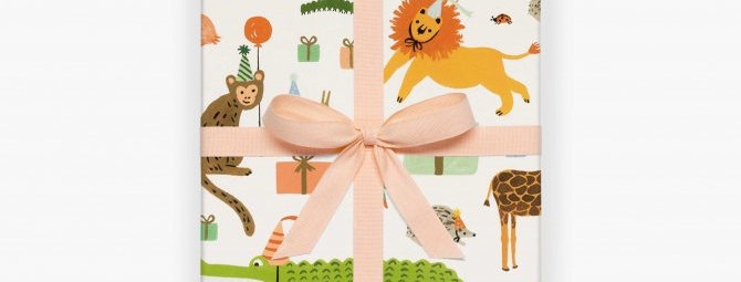 Rifle Paper Co Party Animals gift wrap (by the sheet)