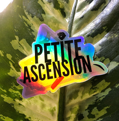 """Petite Ascension Holds On 3"""" Holographic Sticker"""