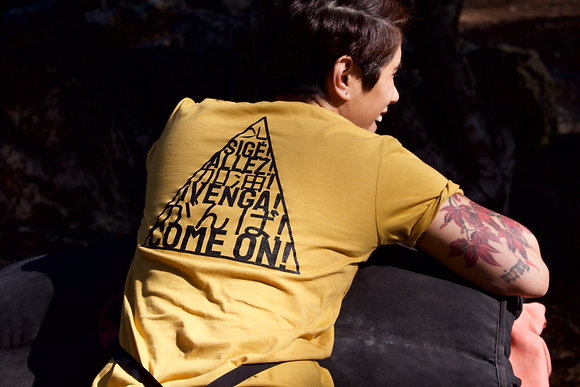 Intl' Motivational Cheers T-shirt in Mustard Yellow