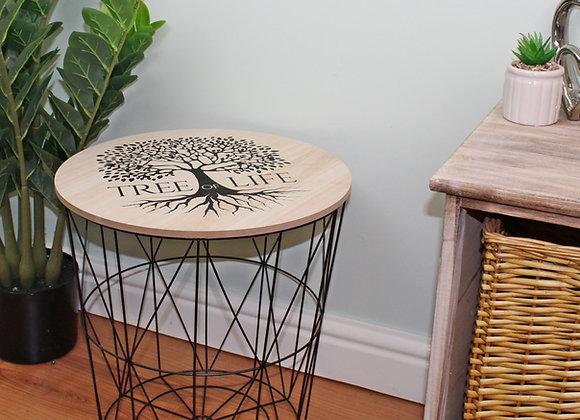 Tree of Life Geometric Side Table 40x40cm.
