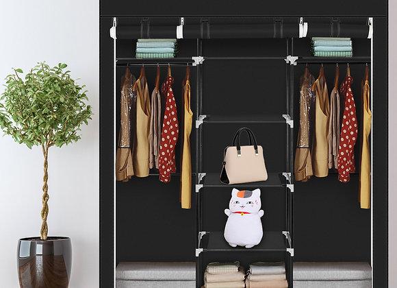 Double Portable Clothes Closet / Storage Unit - Black