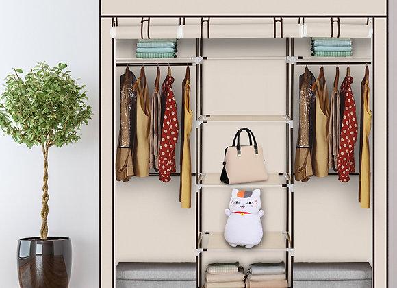 Double Portable Clothes Closet / Storage Unit - Beige