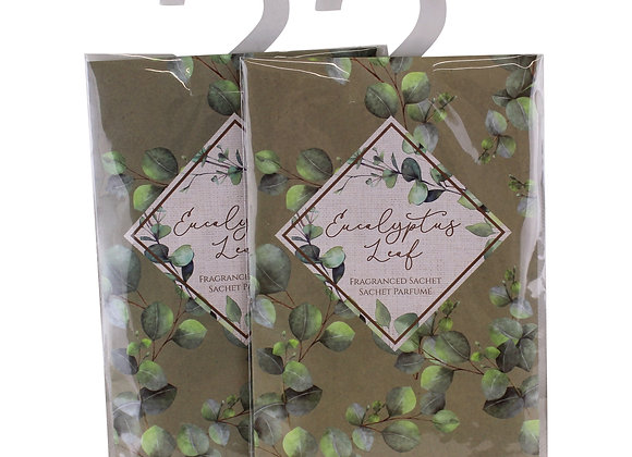 Set of 2 Eucalyptus Leaf Fragranced Sachets, 20gm