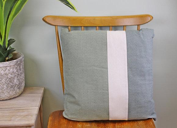 3 Panel Green Square Scatter Cushion, Eucalyptus Range