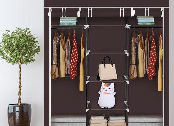 Double Portable Clothes Closet / Storage Unit - Dark Brown