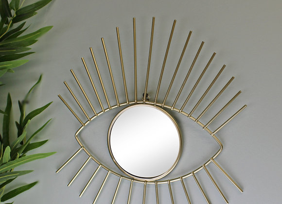 Gold Metal Eyelash Accent Mirror