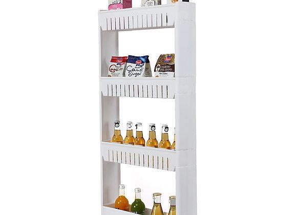 4 Tier Plastic Storage Rack White