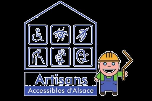 Le logo des artisans accessibles d'alsace