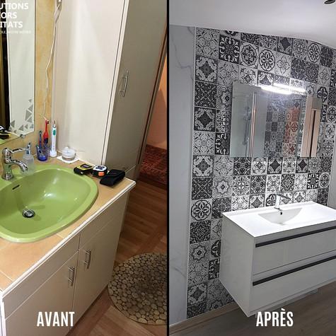 Rénovation complète d'une salle de bain - SSH