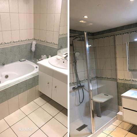 Rénovation salle de bains senior
