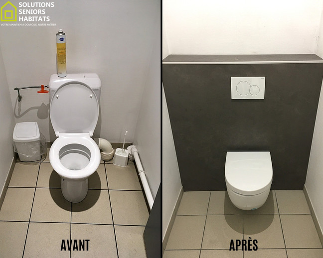 Rénovation de WC par WC suspendu