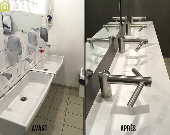 Vasque et robinet dyson airblade wash+dr