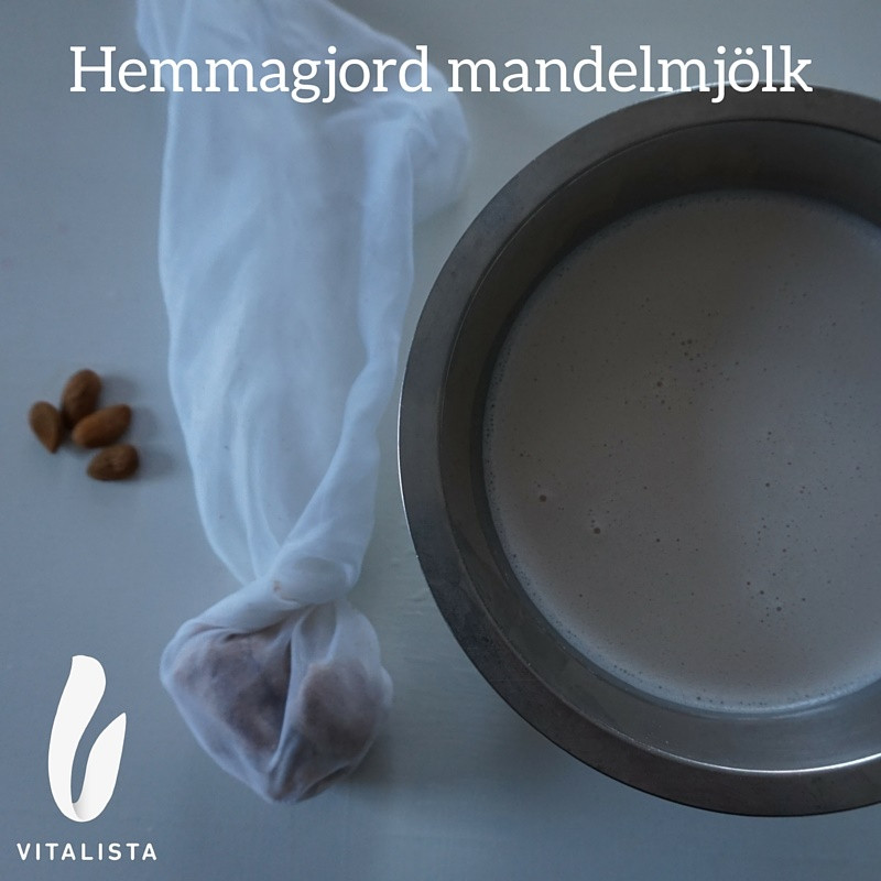 Hemmagjord mandelmjölk