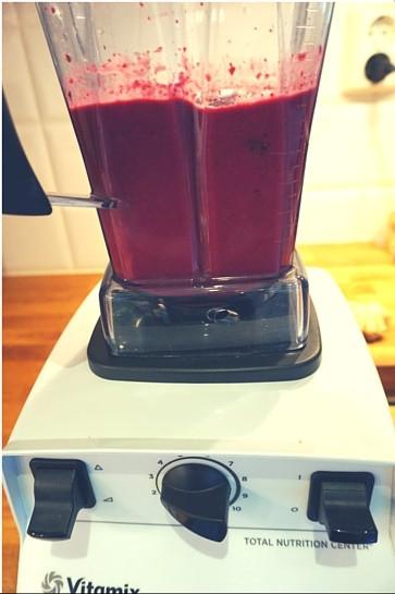 Rödbetssmoothie i Vitamix