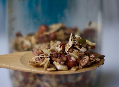 Supergod granola med nötter och kokos